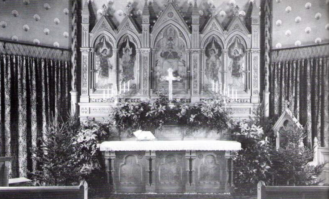 (Left) Martin Luther King, Jr. At St. James (Right) 1890s Nave Stenciling