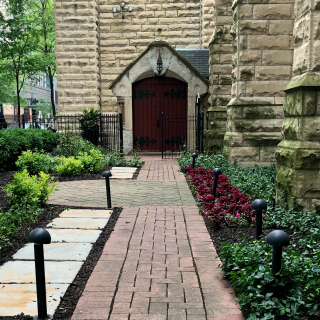 Memorial Garden at St. James Cathedral, Chicago 500x350