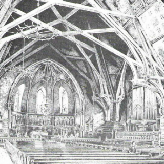 1890s Print of St. James Church 500x350